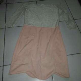 Mini Dress Sabrina Brukat