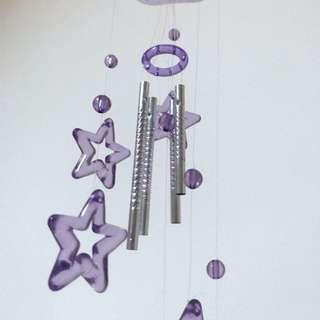 紫色透明星星 風鈴