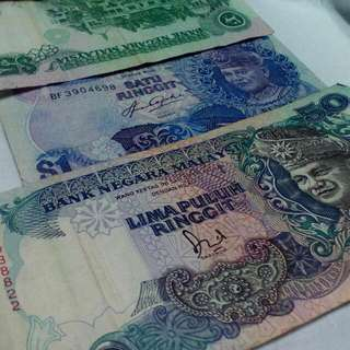 MALAYSIAN NOTE MINT MONEY OLD