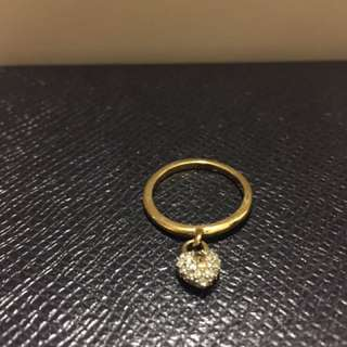 Juicy Couture Gold Plated Pave Heart Ring