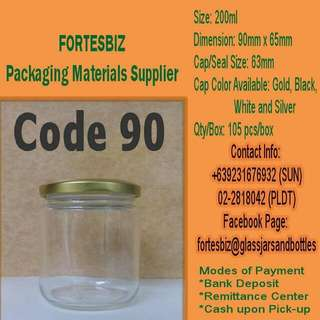 200ml Imported Glass Jars