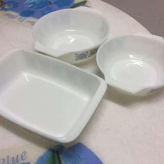 classic set Pyrex (food restoration, food glass, food decoration)