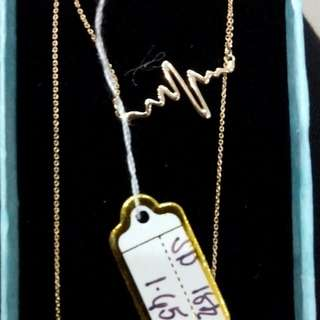 Ladies Necklace 18k Saudi Gold