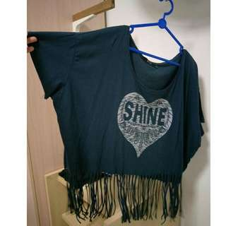 Plus Size Fringe Crop Top