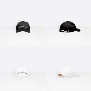 巴黎世家 BALENCIAGA CAP 老帽 黑白兩色