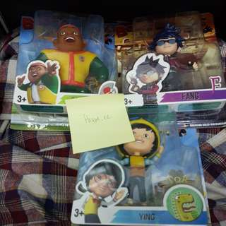 Boboiboy Figurines (Set Of 3, Fang, Gopal, Ying)