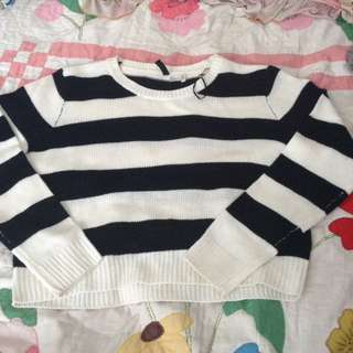H&M Stripped Knit Sweater