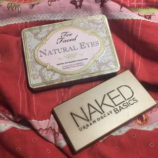 Too Faced Palette And Naked Basics Palette