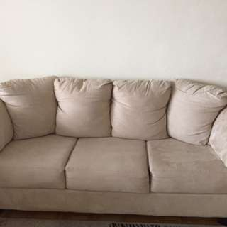 Clean & Comfy Couch And Love Seat