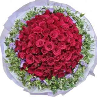 99 red rose bouquet - caity