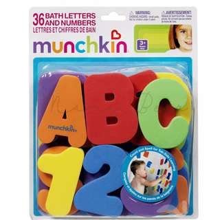Baby Munchkin Bath Letters and Numbers