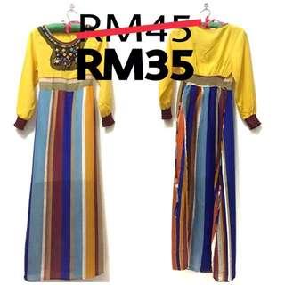 Batam Striped Dress preloved