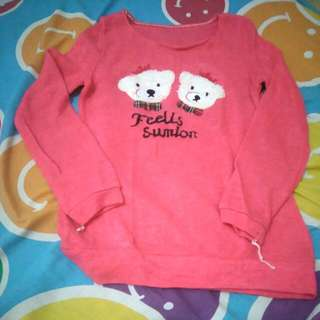 Sweater Lengan Panjang Pink