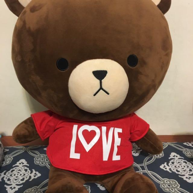 30cm-紅衣Love熊