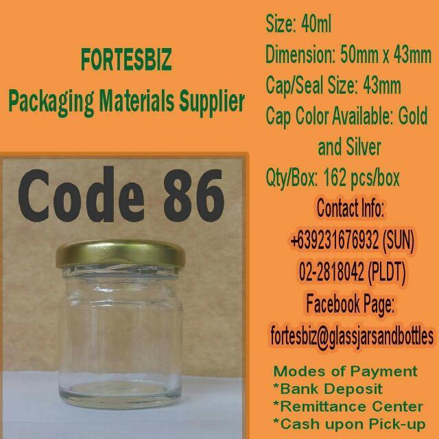 40ml Glass Jars