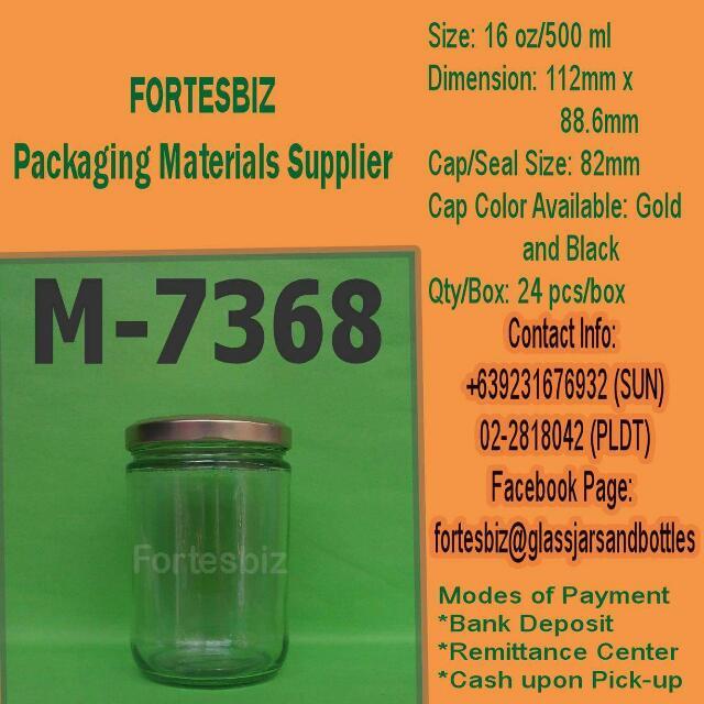 7368 Or 16oz(500ml) Jar