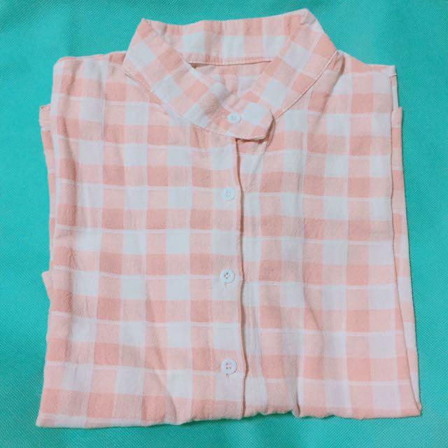粉紅格子襯衫