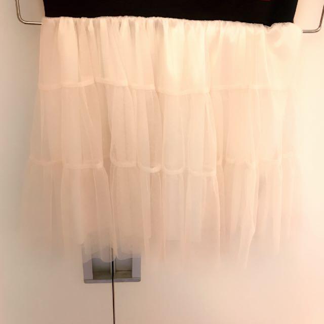 💗超美白色短紗裙