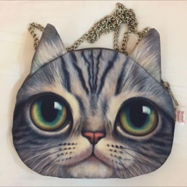 貓咪側背包