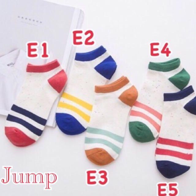 韓國 糖果點紗條紋系列短襪