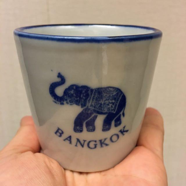 幸運藍象手繪陶瓷杯 🐘🐘🐘