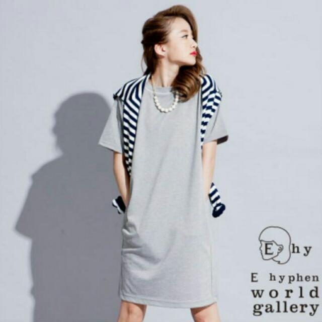 日本 E hyphen 繭型洋裝(附項鍊)