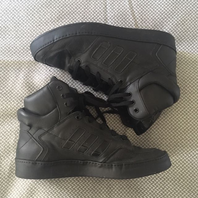 Adidas All Black High tops