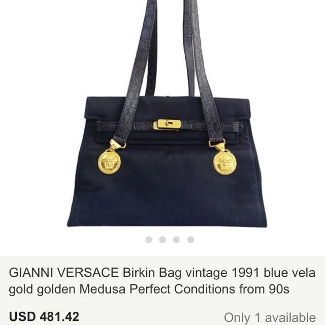 Auth. GIANNI VERSACE Birkin Bag