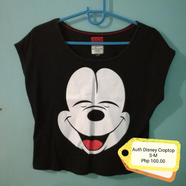 Authentic Disney Mickey Mouse Hanging Semi Croptop