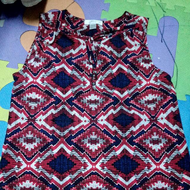 Aztec print blouse