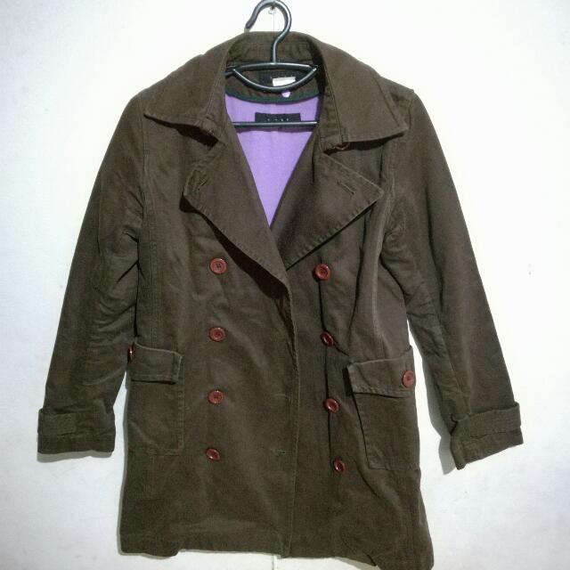 b+ab Double Breasted Coat Sz38