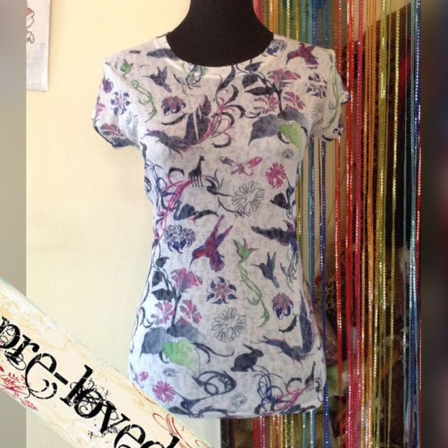 Birds of paradise printed top