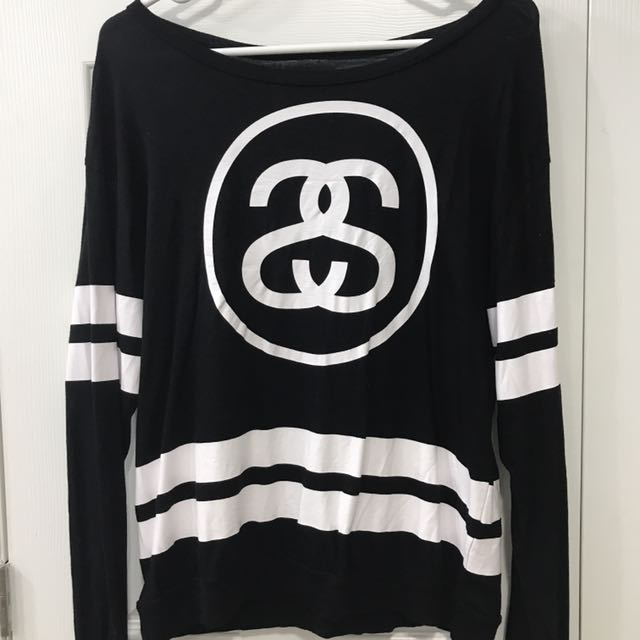 Black and White Stussy Top