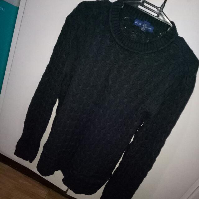 Black Knit Longsleeves