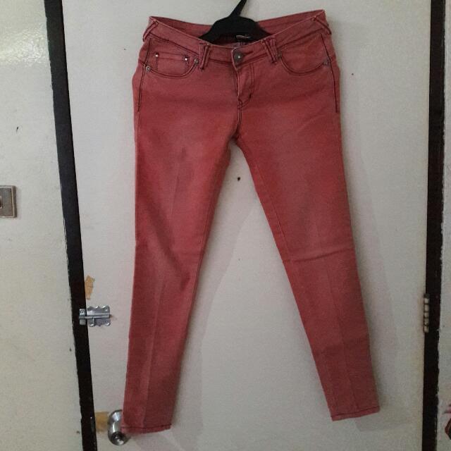BNY Salmon Pink Denim Jeans