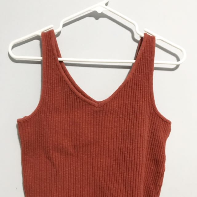 Burnt Orange Mango Tank Top