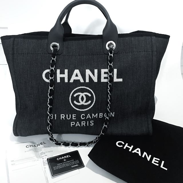 a7713b7ae948 Chanel Deauville Canvas Large Tote, Luxury, Bags & Wallets on Carousell