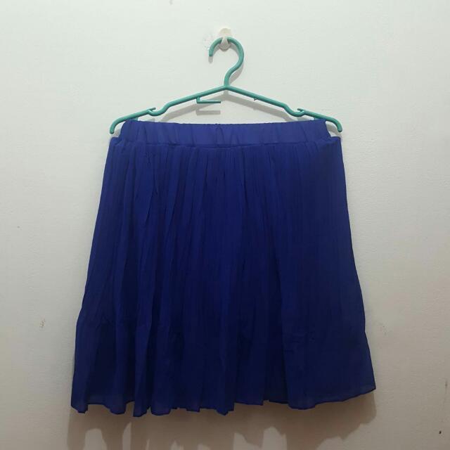 Chiffon Royal Blue Skirt