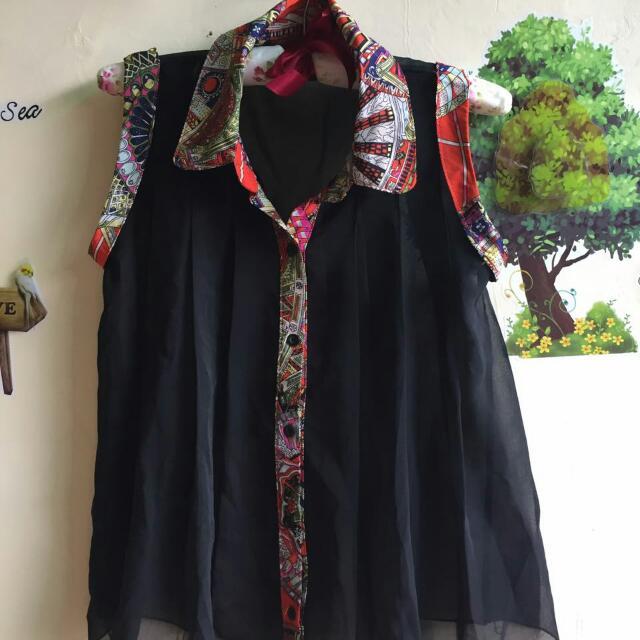 Chiffon Top Batik