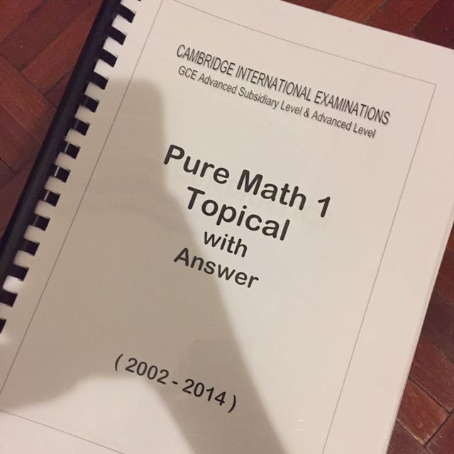 Cie a level pure maths 1 topical past years with answer textbooks photo photo photo fandeluxe Image collections