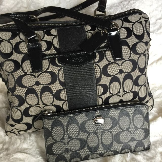 Coach Hand Bag And Wallet
