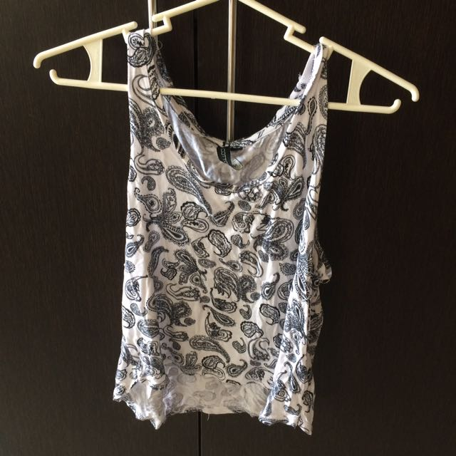 Cotton On Paisley Crop Top