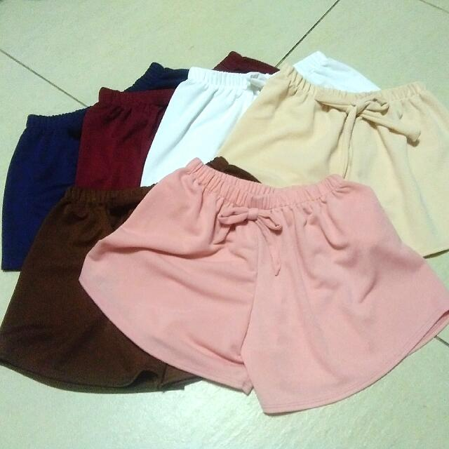 Crepe Fabric Candy Shorts