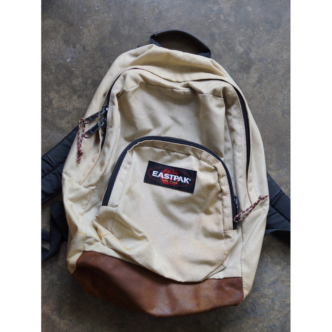Eastpak Vintage Made in USA Leather Backpack