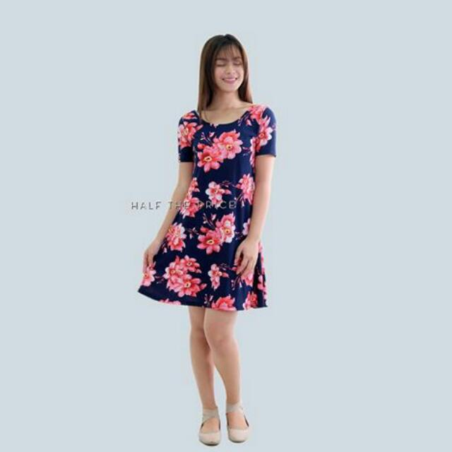 Floral Scoopback A-line Dress
