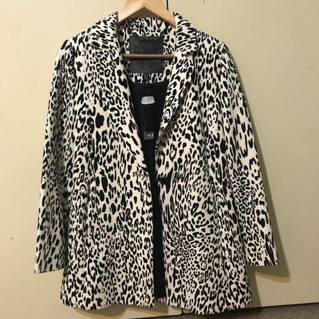 Forever New (Mandy Animal Car Coat) Jacket