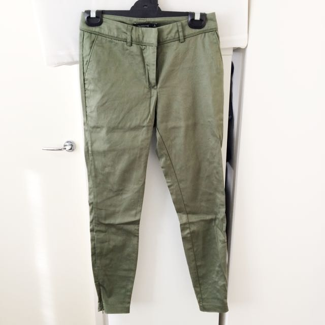 Glassons Size 6 Khaki Ankle Biter Pants