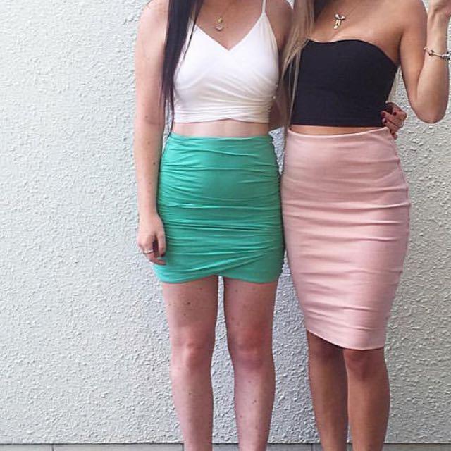 Green Kookai Skirt