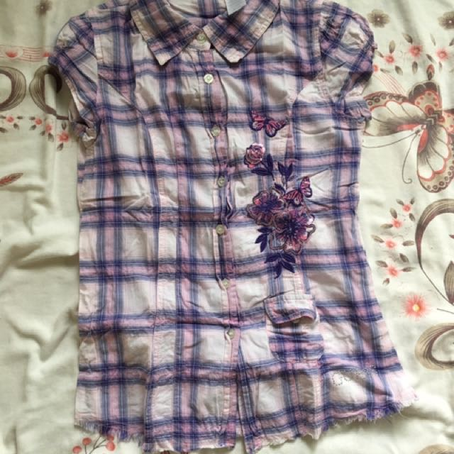 Guess. Checked Blouse
