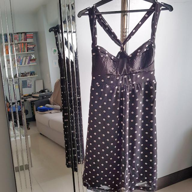 GUESS polkadot Black Dress